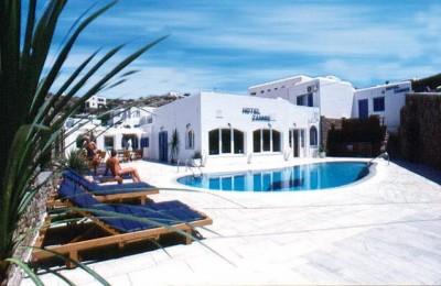 charter mykonos - hotel zannis